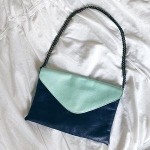 J.Crew leather convertible envelope clutch duo